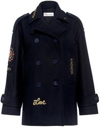 RED Valentino - Applique Oversized Double Breasted Jacket - Lyst