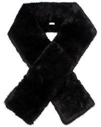 Carven - Long Faux Fur Scarf - Lyst