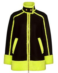 Boutique Moschino | Neon Shearling-lined Coat | Lyst