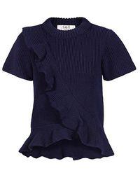 Sea - Ruffle Wool Sweater - Lyst
