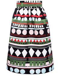 Edit - Geometric Puffed Midi Skirt - Lyst