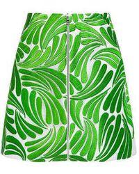 Markus Lupfer - Embroidered Swirl Dora Zip Skirt - Lyst