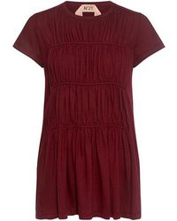 N°21 - Pleat Ruched Tee - Lyst