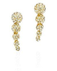 Fallon Shalom Pave Graduated Ball Climber Earrings Gold/pave lk8LIhSWFM