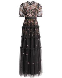 Needle & Thread - Carnation Floral Sequin Maxi Dress - Lyst
