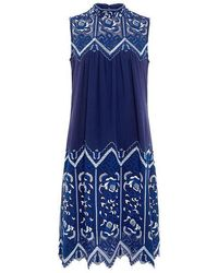 Sea - Embroidered Sleeveless Dress - Lyst