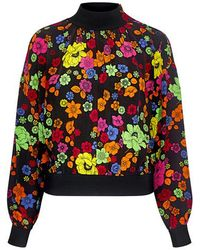 Boutique Moschino - High Neck Floral Blouse - Lyst