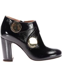 L'Autre Chose - Maxi Snap Glossy Leather Booties - Lyst
