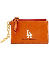 Dooney & Bourke - Mlb Dodgers Zip Top Card Case - Lyst