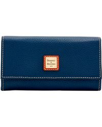 Dooney & Bourke Pebble Grain Framed Continental Wallet - Blue