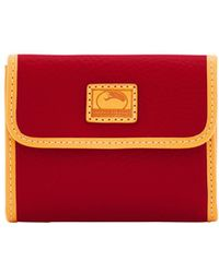 Dooney & Bourke - Patterson Leather Small Flap Credit Card Wallet - Lyst