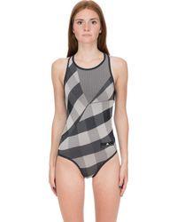 adidas By Stella McCartney - Train Seamless Check Body Suit - Lyst