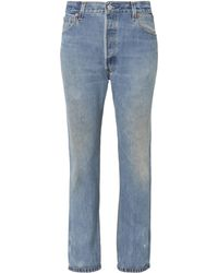 RE/DONE - High-rise Crop Jeans - Lyst