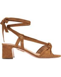 Aquazzura - Suede Tie Sandals - Lyst
