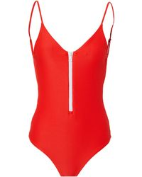 Onia - Zip Front One Piece Swimsuit - Lyst