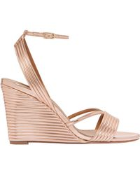 Aquazzura - Sundance Wedge Ankle Strap Sandals - Lyst