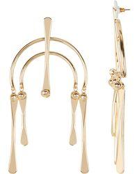 DANNIJO - Kamil Geometric Drop Earrings - Lyst