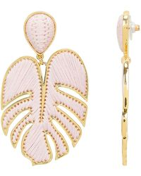 Mignonne Gavigan - Blush Leaf Earrings - Lyst
