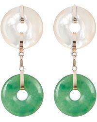 Loren Stewart - Jade And Pearl Drop Earrings - Lyst