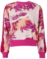 Emilio Pucci - Floral Lace Sweatshirt - Lyst