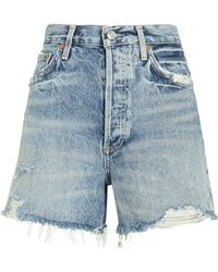 Agolde - Dee Fray Denim Shorts - Lyst