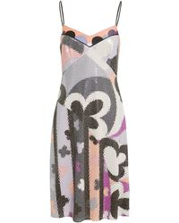 Emilio Pucci - Abstract-printed Sequin Dress - Lyst