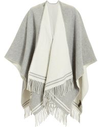 Rag & Bone - Striped Grey Poncho - Lyst