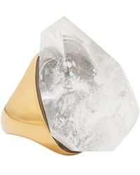 Alexander McQueen - Faceted White Stone Ring - Lyst