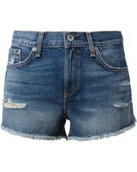 Rag & Bone - Johny Cut Off Shorts - Lyst