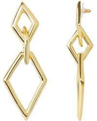 Kenneth Jay Lane - 3 Diamond-shaped Drop Earrings - Lyst