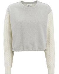 3.1 Phillip Lim - Cable Sleeve Sweatshirt - Lyst