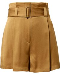 A.L.C. - Deliah Belted Satin Shorts - Lyst