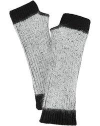 Intermix - Colorblock Fingerless Gloves - Lyst