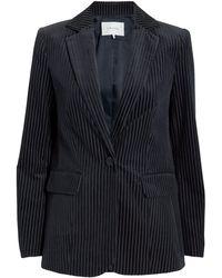 FRAME - Striped Blazer - Lyst