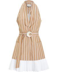 Alexis - Carmona Poplin Sleeveless Dress Brown/white L - Lyst