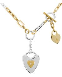 Lulu Frost - Folly Heart Lock Necklace Gold/silver 1size - Lyst