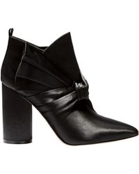 Sigerson Morrison - Kiran Bow Satin Booties - Lyst