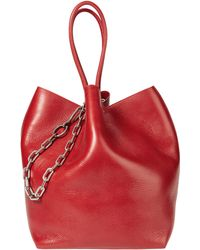 Alexander Wang - Roxy Large Red Leather Tote - Lyst