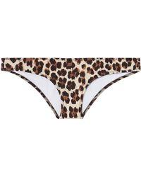 Caroline Constas Mer - Mykela Leopard Bikini Bottom - Lyst