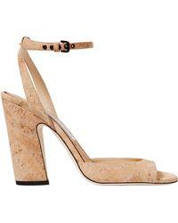 Jimmy Choo - Miranda Cork Ankle Strap Heels - Lyst