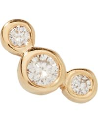 Zoe Chicco - Small Graduated Diamond Stud - Lyst