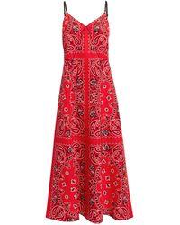 Alexander Wang - Printed Bandana Slip Dress - Lyst