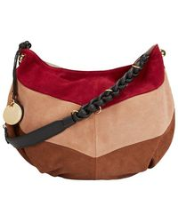 replica chloe marcie - Chlo�� Drew Mini Color-Blocked Shoulder Bag in Brown (BEIGE/CARAMEL ...