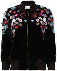 Tanya Taylor - Embellished Velvet Bomber Jacket - Lyst
