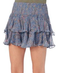 Twelfth Street Cynthia Vincent - Exclusive Ruffle Mini Skirt: Periwinkle - Lyst
