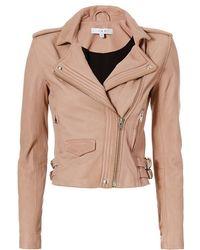 IRO - Hana Moto Leather Jacket: Blush - Lyst