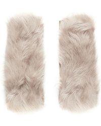 Yves Salomon | Shearling Lamb Fingerless Gloves | Lyst