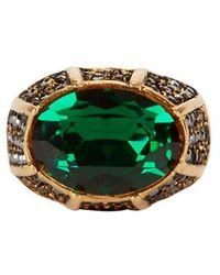 Kenneth Jay Lane - Pyrite Cocktail Ring - Lyst