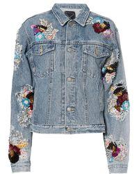 Night Market - Sequin Denim Jacket - Lyst