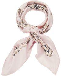 Manipuri - Bandana Print Pink Silk Square Scarf - Lyst